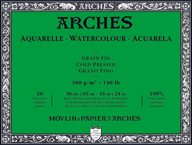 minoristas en línea Unbekannt Arches Bloc para Acuarelas, Madera, Color Color Color blancoo, Madera, blancoo, 61 x 46 x 1 cm  ahorra hasta un 70%