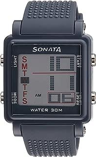Sonata Super Fibre Digital Grey Small Dial Men's Watch -NH77043PP02