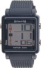 Sonata Super Fibre Digital Grey Small Dial Men's Watch NL77043PP02 / NL77043PP02
