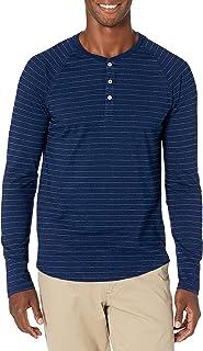 Amazon Brand - Goodthreads Men's Standard Long-Sleeve Indigo Henley