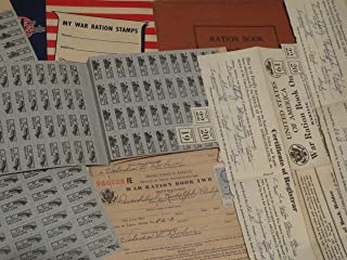 World War II Ration Books as shown