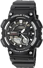 Casio Men's Sports Quartz Watch with Resin Strap, Black, 28.6 (Model: AEQ110W-1AV)