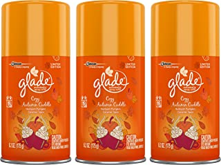 Glade Automatic Spray Refill - Limited Edition - Winter Collection 2017 - Cozy Autumn Cuddle - Net Wt. 6.2 OZ (175 g) Per Refill Can - Pack of 3 Refill Cans