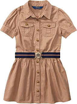 Polo Ralph Lauren Kids - Tissue Chino Shirtdress (Little Kids)