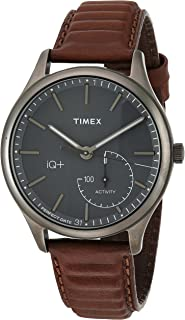 Timex Men's IQ+ Move Activity Tracker Leather Strap Smart Watch