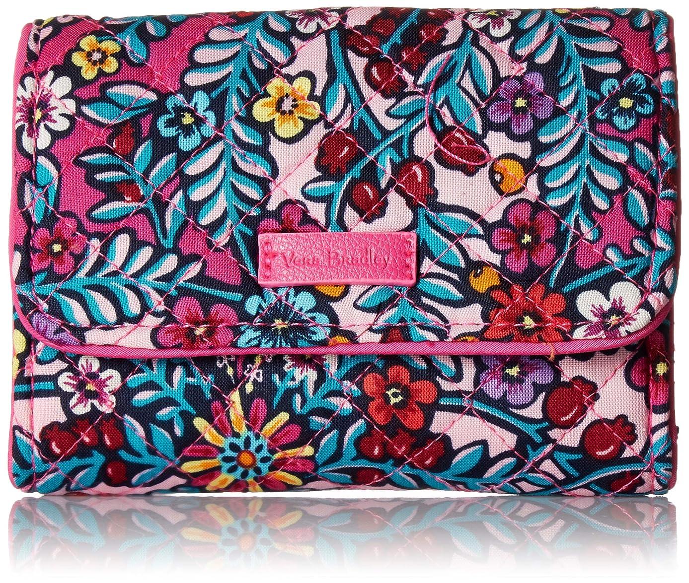 コスト費やす統合Vera Bradley レディース Iconic RFID Riley Compact Wallet, Signature Cotton