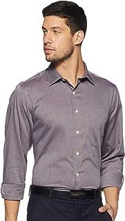 Arrow Men's Self Design Regular Fit Formal Shirt, Maroon