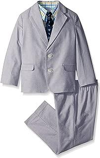 Boys' 4-Piece Suit Set with Dress Shirt, Tie, Jacket, and Pants