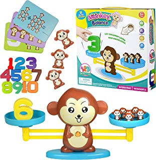 Play Brainy Balancing Monkey Math Game – Fun & Educational Monkey Scale Math Toy – Cute Numbers Counting Game for Girls & Boys – Perfect Learning Game for Young Children