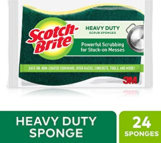 Scotch-Brite Heavy Duty Scrub Sponge, 24 Scrub Sponges