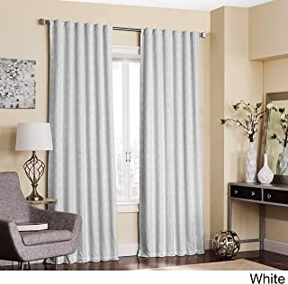 Eclipse Adalyn Thermalayer Blackout Window Curtain Panel White 52x84 84 Inches