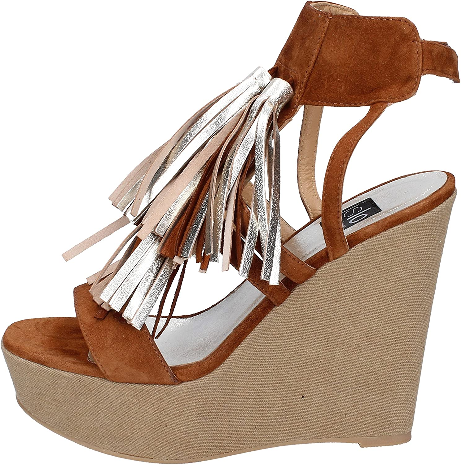 ISLO Sandals Womens Suede Brown
