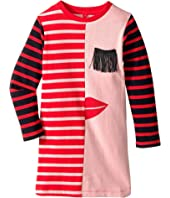 Stella McCartney Kids - Kora Striped Dress w/ Fringe Eyelash Detail (Toddler/Little Kids/Big Kids)