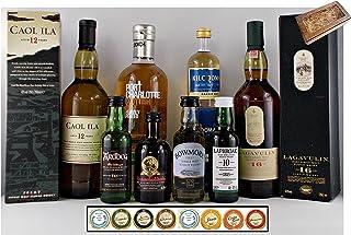 Geschenk Whisky Islay complete  6 Edel Schokoladen  2 Meersalztaler im edlen Geschenkkarton