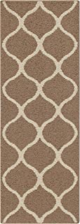 Maples Rugs Runner Rebecca Accent Rug, 1'9 x 5', Café Brown/White