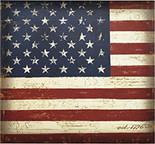 MCS MBI 13.5x12.5 Inch Americana Collection Scrapbook Album with 12x12 Inch Pages, Vintage Flag Theme (860105)