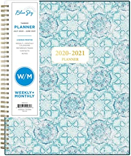 "Blue Sky 2020-2021 Academic Year Weekly & Monthly Planner, Flexible Cover, Twin-Wire Binding, 8.5"" x 11"", Ava"