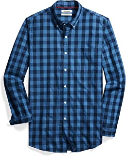 Amazon Brand - Goodthreads Men's Slim-Fit Long-Sleeve Gingham Shirt