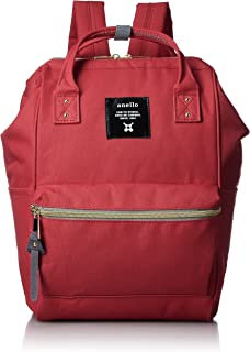 Japan Anello Backpack Unisex MINI SMALL RED Rucksack Waterproof Canvas Bag Campus