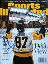 Sidney Crosby PITTSBURGH PENGUINS autographed Sports Illustrated magazine 6/19/17