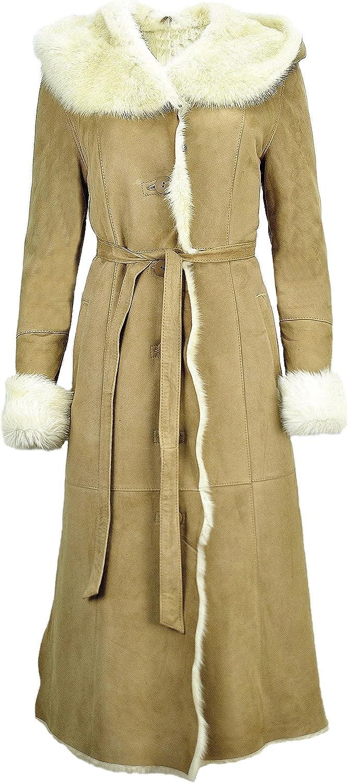 DX-Exclusive Wear Women's Toscana Sheepskin Coat, Lambskin Toscana Coat, Leather Coat KPKD-0022