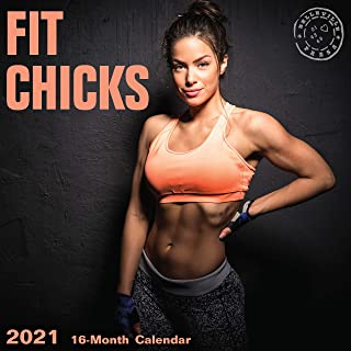 2021 Fit Chicks Wall Calendar by Bright Day, 12 x 12 Inch, Hot Sexy Pinup Girls Gym Working Out Babe