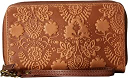 Tobacco Floral Embossed