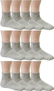 Debra Weitzner Mens Womens Diabetic Socks - Crew Ankle - Non Binding - 12 Pairs…