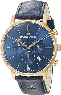 Maurice Lacroix - Reloj Cronógrafo para Hombre de Cuarzo con Correa en Cuero EL1098-PVP01-411-1