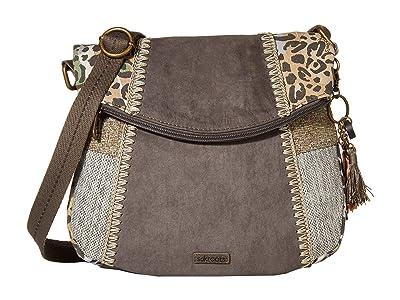 Sakroots Artist Circle Foldover Crossbody (Slate Spotted Wildlife) Cross Body Handbags