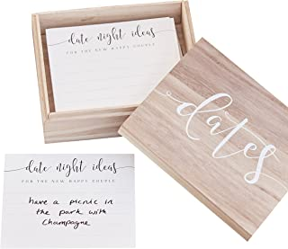 Ginger Ray CW-251 Date Night Suggestion Box Guestbook-50 Cards