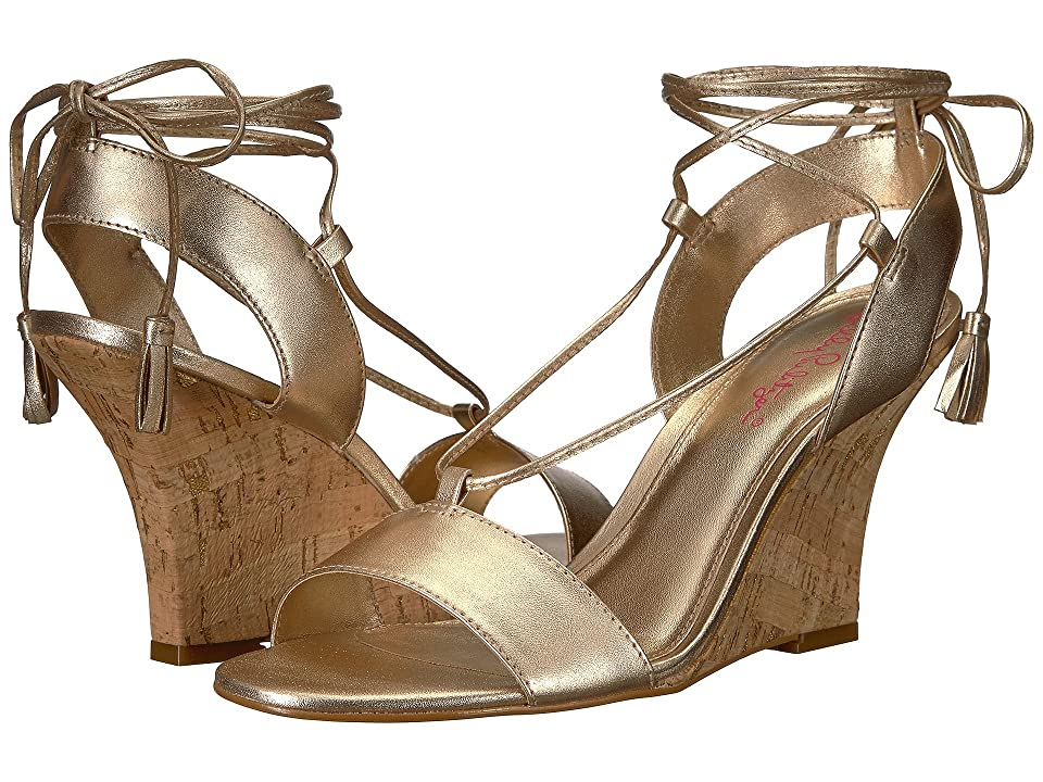 Lilly Pulitzer Aria Wedge (Gold Metallic) Women