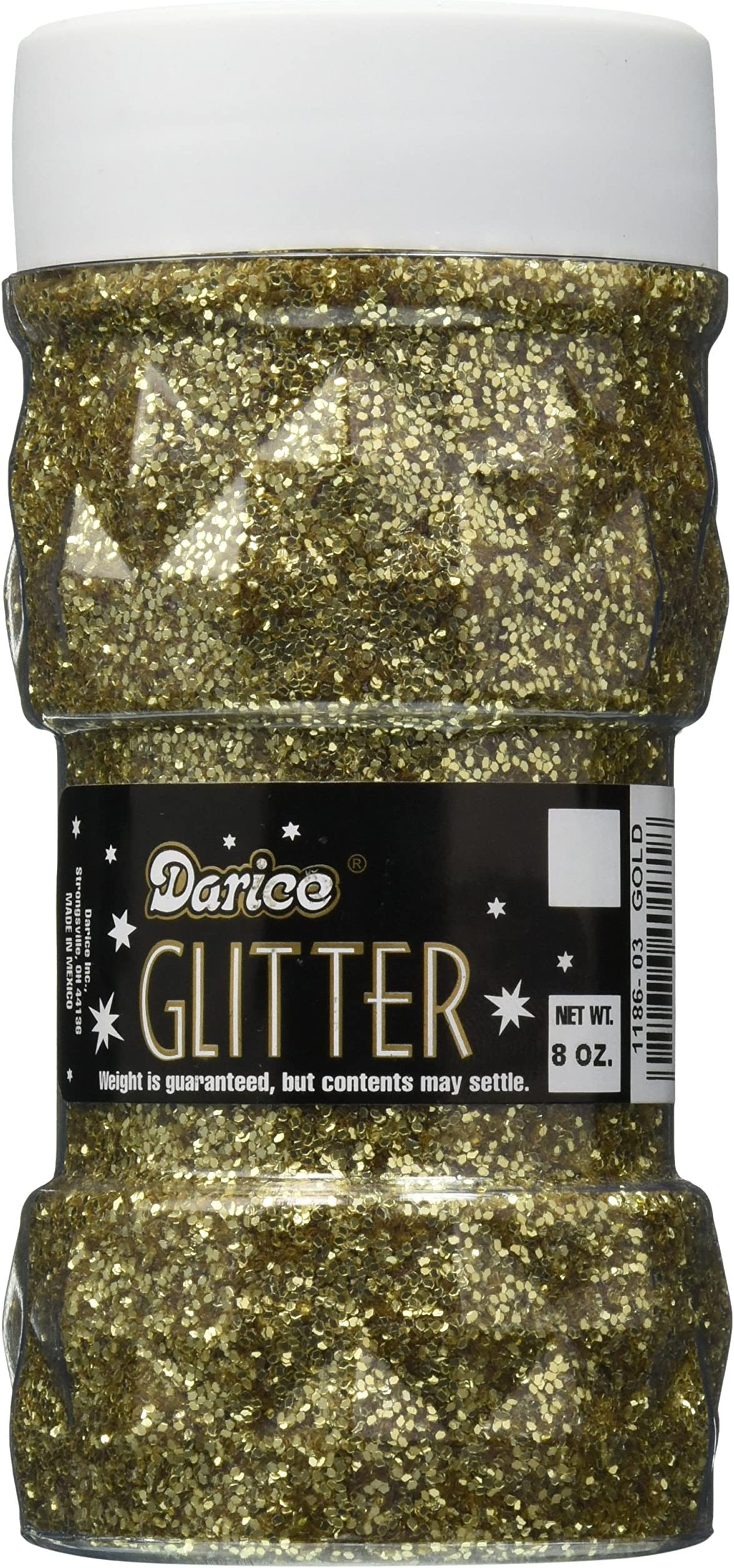 Darice 12-pc CHUNKY Glitter Set: Assorted Colors Crafts Each jar is .30 ounces of glitter Resin Jewelry Great for UV /& 2-part Resins