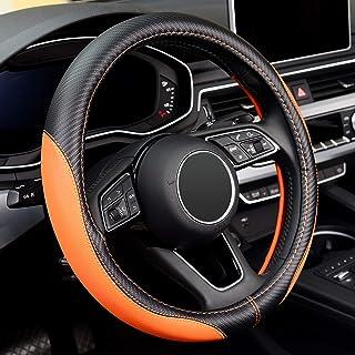 para Saab 9-2X 2005 2006 para Subaru Legacy Forester Outback Impreza WRX 2003-2007 Funda de Volante Cosida a Mano Cubierta de Volante de Coche de Cuero Negro PU DIY