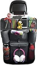 FinWings Envoy Dark Interior Gray, Heavy Duty Seat Back Car Organizer Storage, 12 Compartments, 4 Cup Bottle Holder Pockets