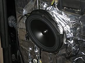 HushMat 10110 Ultra Black Foil Speaker Kit with Damping Pad 4 Piece