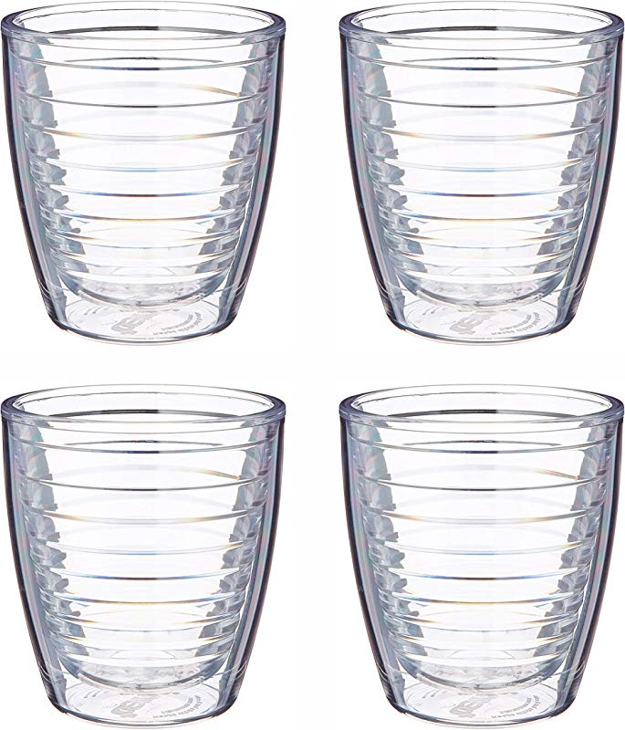 Tervis 12oz Clear Tumbler Set Of Four Tumblers 3 75 Inches In Diameter By 4 25 Inches Tall