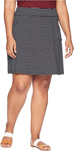 Plus Size Pinstripe City Skort