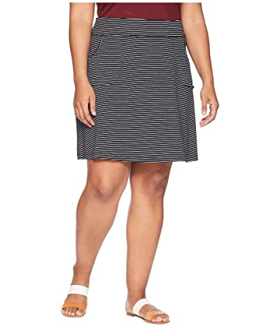 Fresh Produce Plus Size Pinstripe City Skort (Black) Women