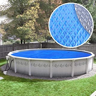Pool Mate 24S-10SBD BOXPM Premium Solar Blanket for Above Ground Swimming Pools, 24' Round Pool, Blue/Silver