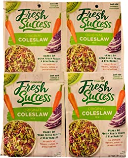 Concord Fresh Success Original Coleslaw Mix | 1.87 oz Packets | Pack of 4
