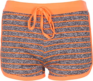 NOROZE Girls Kids Line Fleck Hot Pants Activewear Shorts