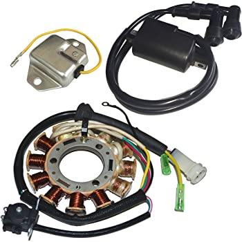 ZOOM ZOOM PARTS STATOR REGULATOR RECTIFIER /& IGNITION COIL Fits YAMAHA BANSHEE 350 YFZ350 95-06 FREE FEDEX 2 DAY SHIPPING