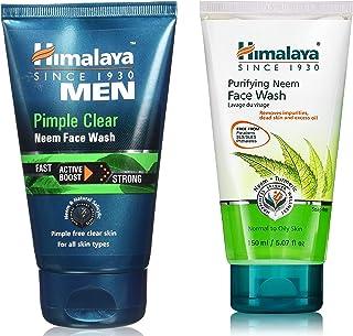 Himalaya Men Pimple Clear Neem Face Wash, 100ml & Himalaya Herbals Purifying Neem Face Wash, 150ml