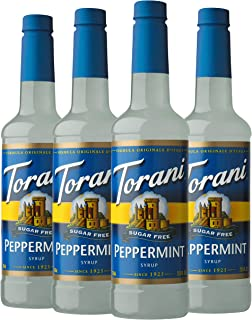 Torani Sugar Free Syrup, Peppermint, 25.4 Ounces (Pack of 4)