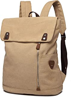 Scioltoo Vintage Backpack for Men and Women Canvas Leather Laptop School Rucksack