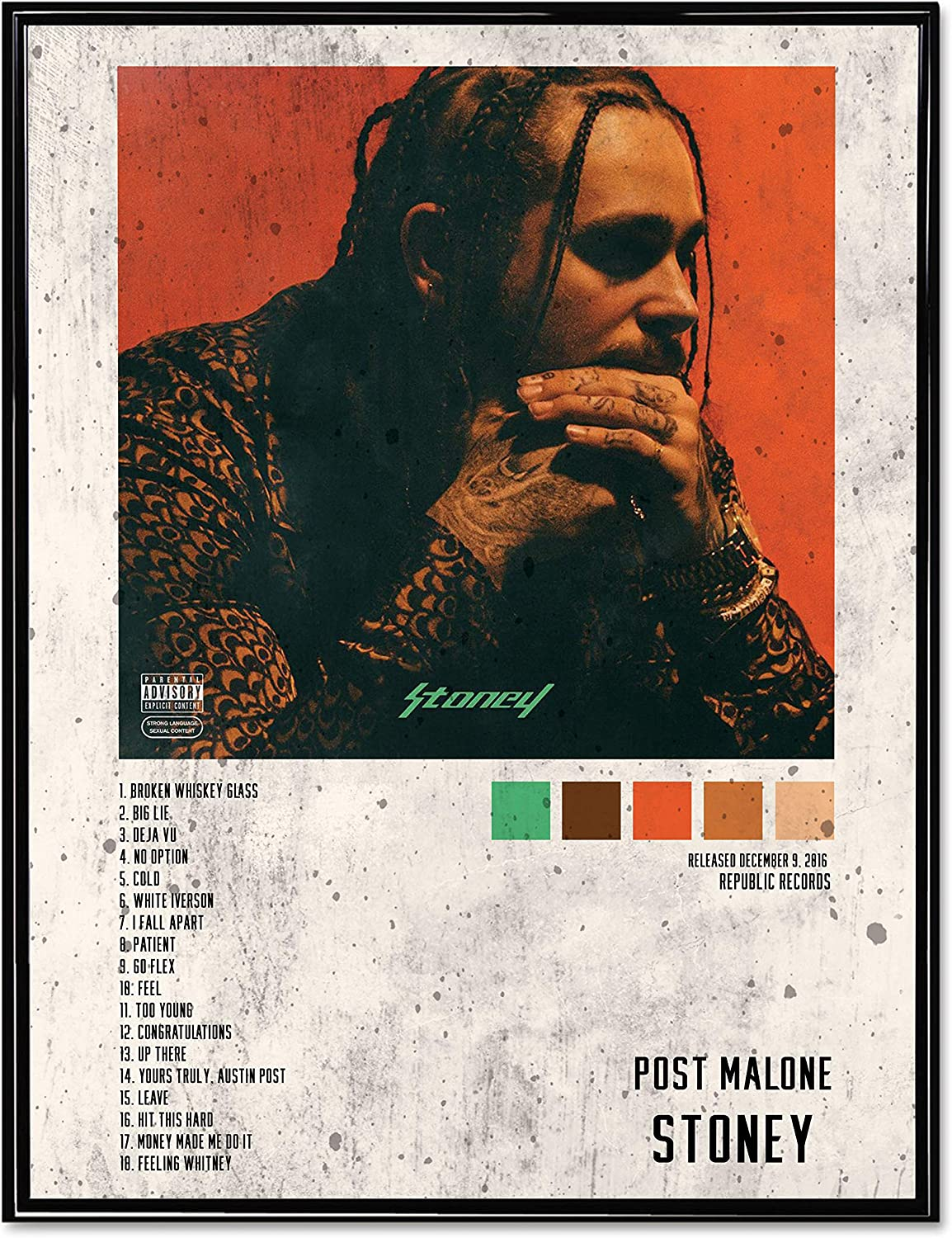 "20/"" 24/"" sizes Post Malone Deja Vu poster wall art home decor photo print 16/"""
