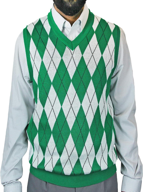 Blue Ocean Big Men Argyle Jacquard Sweater Vest