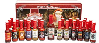 Hot Sauce Gift Set - Advent Calendar - The 25 Sauces of Christmas Countdown to Santa Clause - Also Makes a Great Gift For Christmas Day
