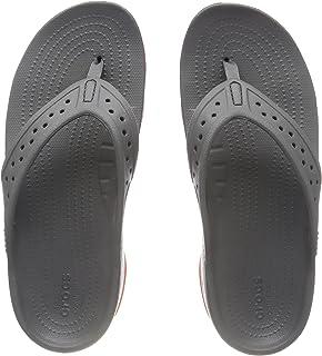 77501ad15c93 FREE Shipping on eligible orders. Crocs Men s Swiftwater Croslite️ Slip On Flip  Flop Slate Grey Tangerine